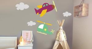 Stickers Avions pour chambre de bébé garçon