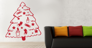 sticker sapin de noel