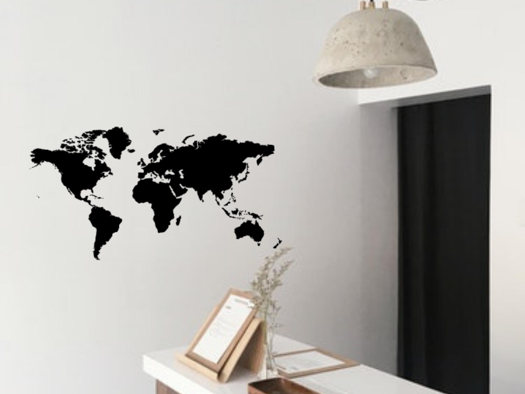 Sticker Planisphère, décoration idéal pour votre intérieur